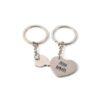 Комплект брелков для ключей ''Сердечко'' с Вашей гравировкой