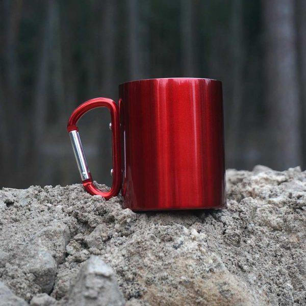 Металлическая кружка 280 мл. Red с гравировкой