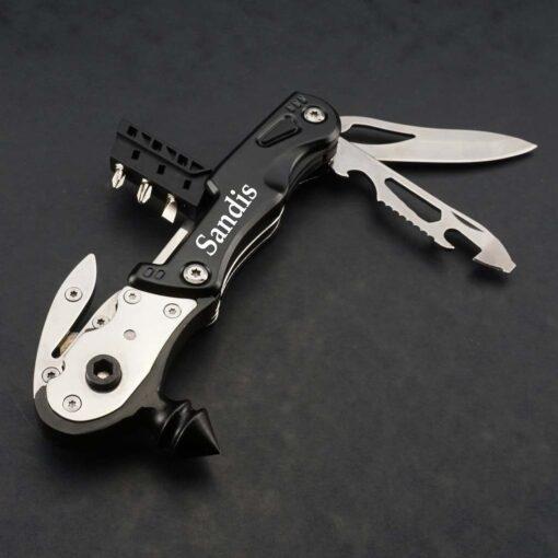Multitool — дорожный нож с гравировкой