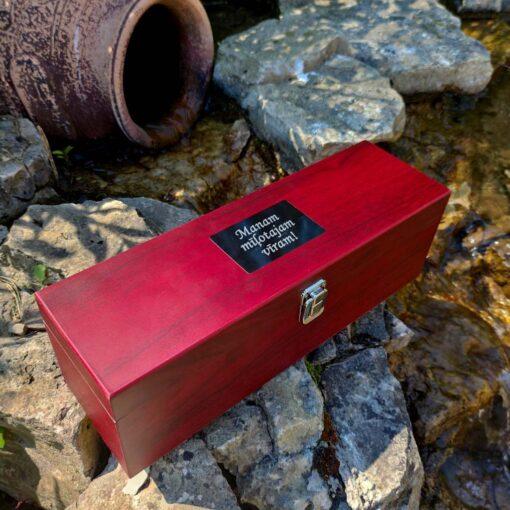 Коробка и аксессуары для вина (5 пред.) с гравировкой