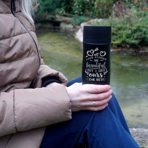 Termokrūze Air Gifts 350 ml Black ar gravējumu