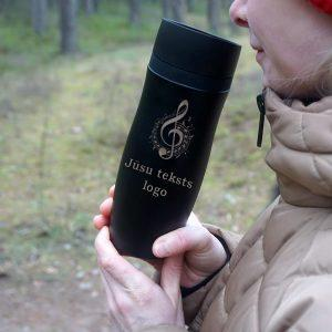 Termokrūze Air Gifts 350 ml Black ar gravējumu