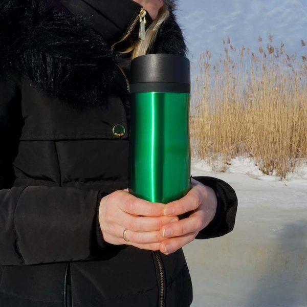 Termokrūze Air Gifts 350 ml Green ar gravējumu