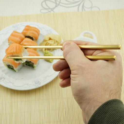 Суши палочки с гравировкой Gold