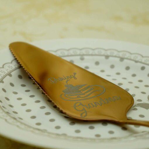 Лопатка для торта — Розовое золото