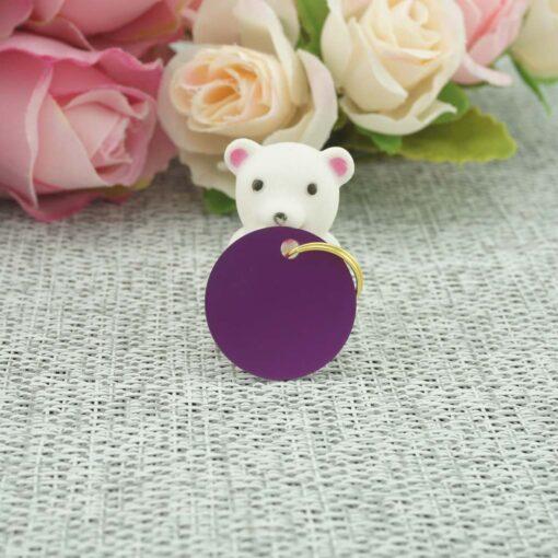 Dzīvnieku žetons ar gravējumu Purple I