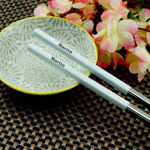 Суши палочки с гравировкой White
