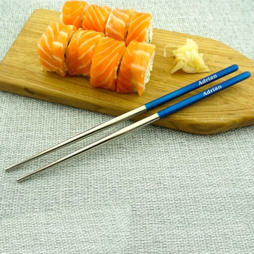 Суши палочки с гравировкой Blue