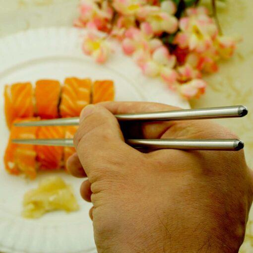 Суши палочки с гравировкой Silver II
