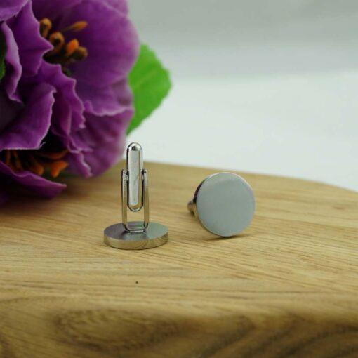 Запонки «O Silver» с гравировкой