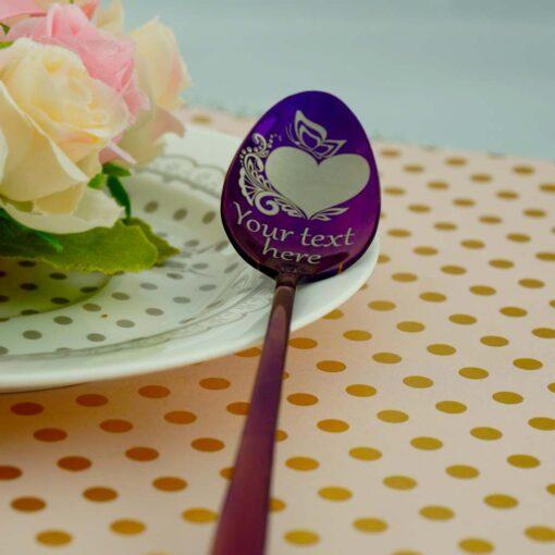 """Ложка Latte """"180+ рисунков"""" Purple"""