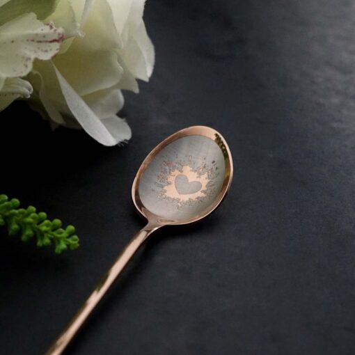 """Ложка Latte """"180+ рисунков"""" Rose Gold"""