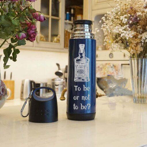 Спортивная бутылка-Термос 500мл. с гравировкой