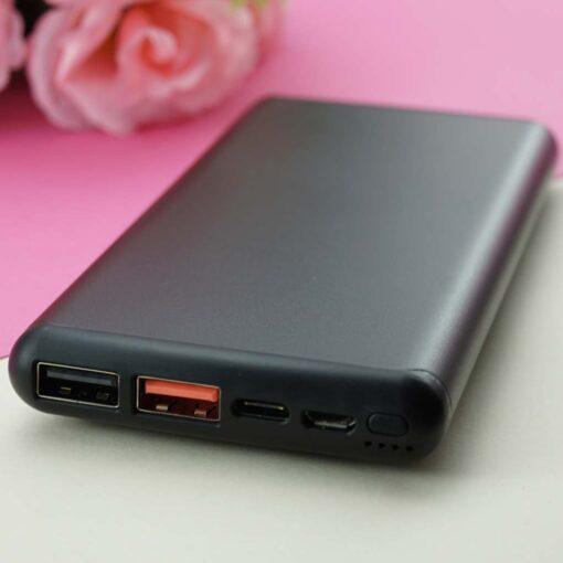 Wireless power bank 10000 mAh Black ar gravējumu